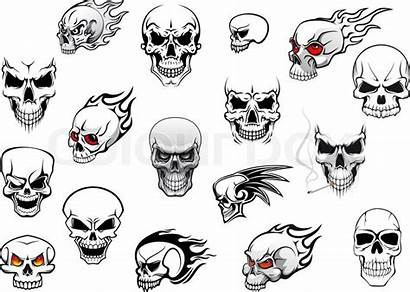 Horror Halloween Skulls Vector Tattoo Danger Mascot