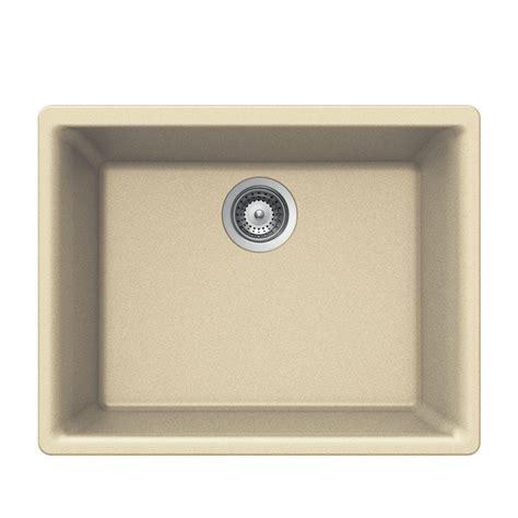 composite undermount kitchen sink houzer quartztone undermount composite granite 24 in 1 5665