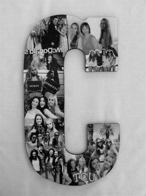 letter picture collage custom photo collage letter gift college 91240