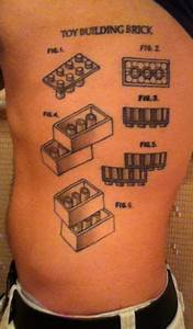 Toy Building Brick Patent  Lego Brick Diagram Side Tattoo