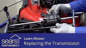 Replacing the Transmission on a Lawn Mower - YouTube