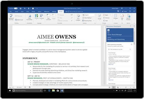 Microsoft Word Adds Linkedinpowered Resume Assistant To Office 365 Venturebeat