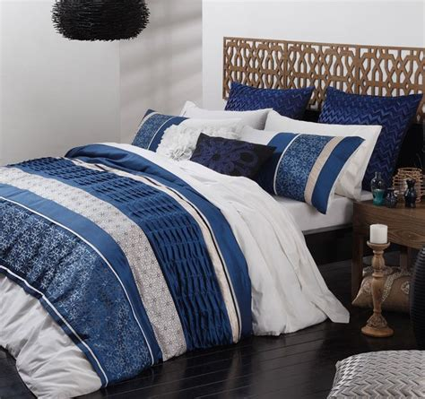 bohemia blue  pce super king size quilt doona cover set