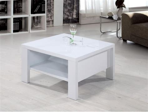 White Wood Coffee Table Square Thelightlaughedcom