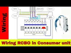 how to wire rcd in garage shed consumer unit uk