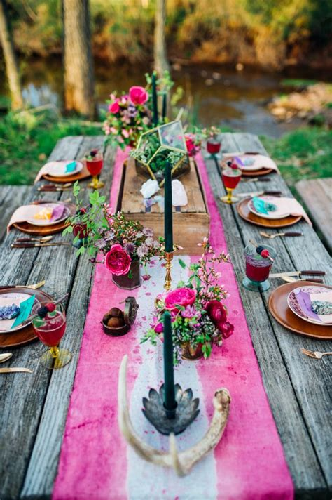 boho chic table ls picture of boho chic wedding table settings to get inspired 3