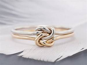 14k gold ring engagement ring promise ring wedding ring With knot wedding ring