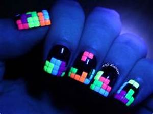 1000 images about Glow in the Dark Nail Art on Pinterest