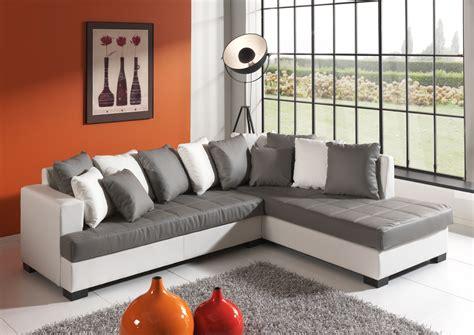 canapé d angle blanc gris canapé d 39 angle design en pu gris blanc eros canapé d