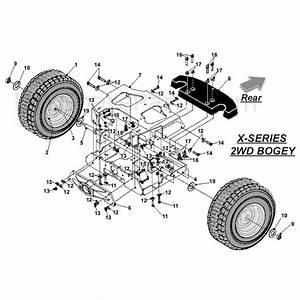 Countax X Series Rider 2010  2010  Parts Diagram  2wd Bogey