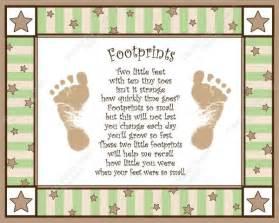 Baby Footprint Poem