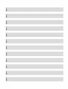Printable Blank Guitar Tab Template