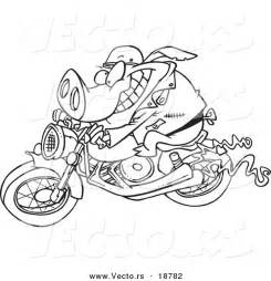 Pig On Motorcycle Clip Art