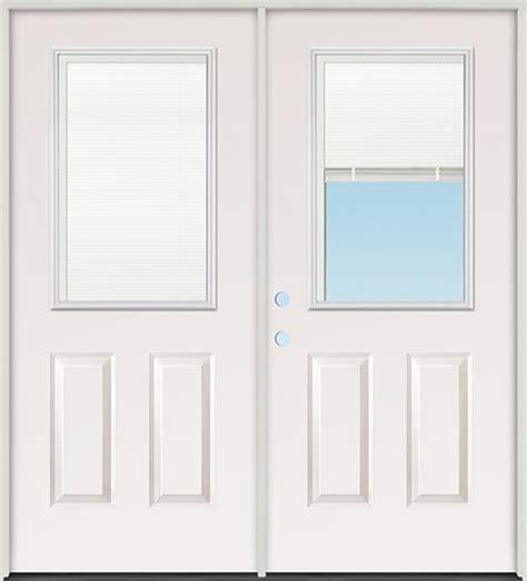 finer doors 5 0 quot miniblind half lite fiberglass patio
