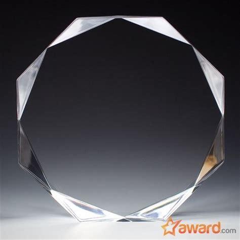 clear octagon custom acrylic awards