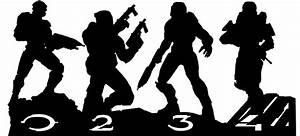 Halo Master Chief Collection - Silhouette Vector by ...