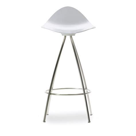 tabouret de bar design blanc tabouret design stool hauteur 83 cm