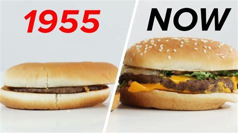 mc cuisine mcdonald s 1955 vs now