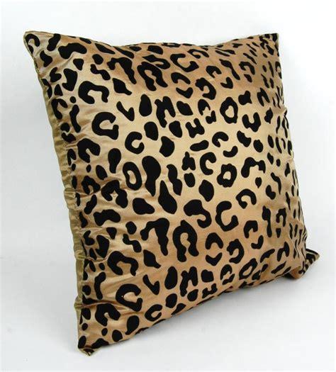animal print pillows silk blend cheetah pillow square throw modern animal print