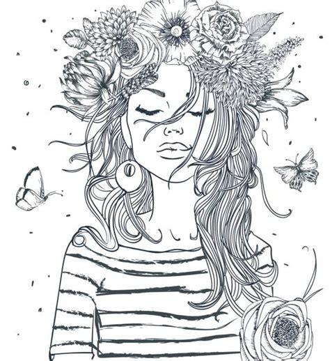 teenage girls illustrations royalty  vector