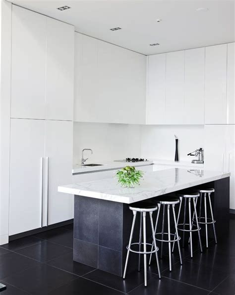 kitchens with tile floors top half white bottom half black and how could you 6651