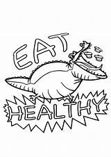 Health Coloring Health1 sketch template