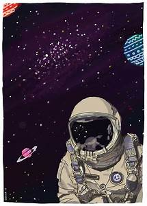 "Astronaut in ""PEACE"" : space illustration 2 
