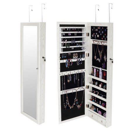 The Door Mirrored Hanging Armoire by Ktaxon Mirrored Hanging Jewelry Cabinet Armoire Organizer