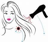 Hair Blow Drying Dryer Dry Drawing Brush Getdrawings sketch template