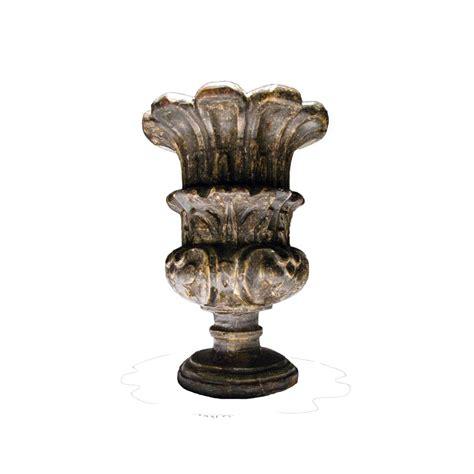 vaso legno vaso in legno intagliato e argentato dei primi decenni