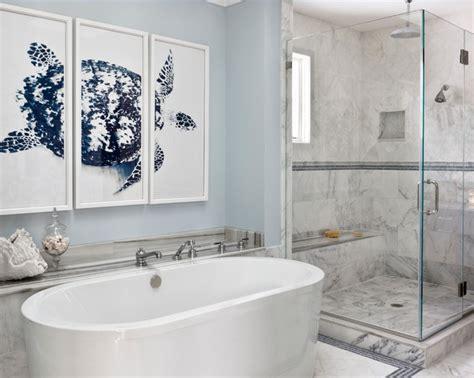 Bathroom Art Ideas With Framed Turtle Wallpaper