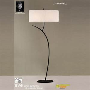 mantra spain eve m1159 antracite twin light floor lamp With xhilarationwhite floor lamp with stardust shade