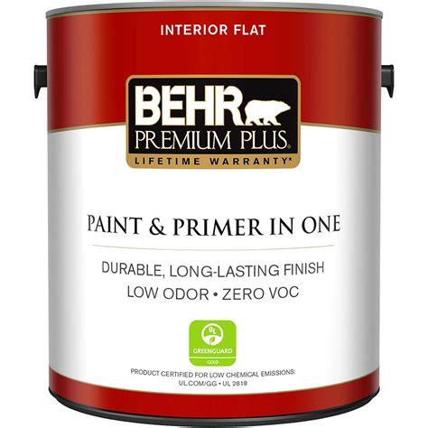 home depot paints interior behr premium plus 1 gal white flat zero voc interior