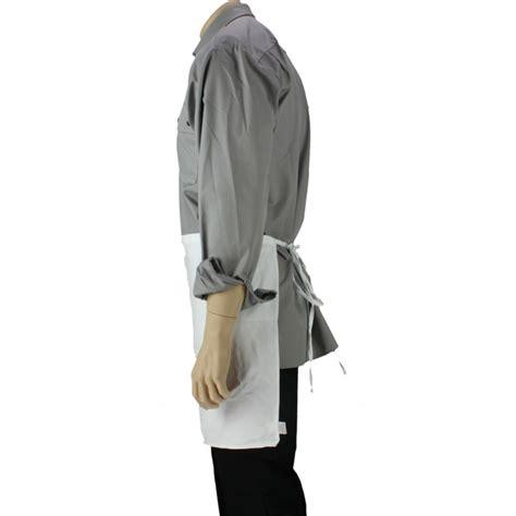 tablier blanc de cuisine tablier de cuisine à la taille blanc avec une poche