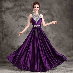 Popular royal purple dress buy cheap royal purple dress for Royal purple and white wedding dress