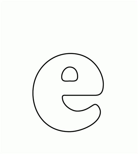 Coloring Letter E by Lowercase E Coloring Pages And Print For Free