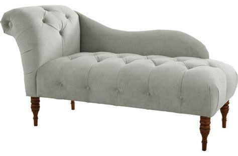tufted upholstered chaise lounge velvet light gray