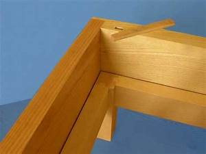 timber joint for a bedframe - YouTube