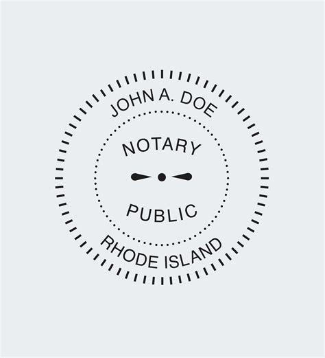 rhode island notary seals nna