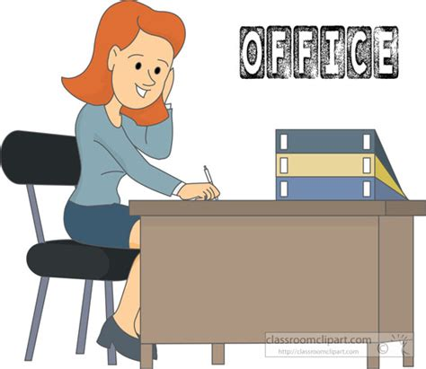 clipart bureau office clipart office worker sitting at desk clipart 215