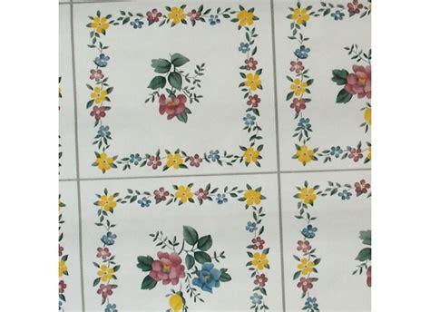 Tapete Zum Abwischen by K 252 Chentapete Fliesen Mit Blumenmuster Bad K 252 Che