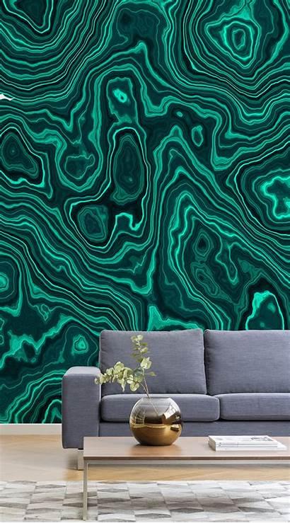 Malachite Crystal Wall Mural Murals Muralswallpaper Effect