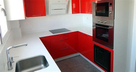 muebles de cocina modelo neo en rojo cocinasalemanascom