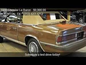 Chrysler Le Baron Cabriolet : 1986 chrysler le baron mark cross 2dr convertible for sale i youtube ~ Medecine-chirurgie-esthetiques.com Avis de Voitures