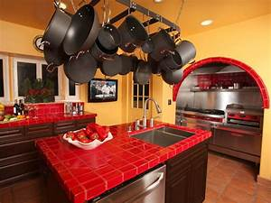 tile kitchen countertops pictures ideas from hgtv hgtv With kitchen colors with white cabinets with ceramic outdoor wall art