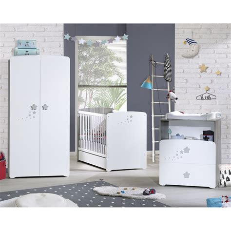 chambre de bébé complete chambre bébé trio nao lit 60x120cm commode armoire de