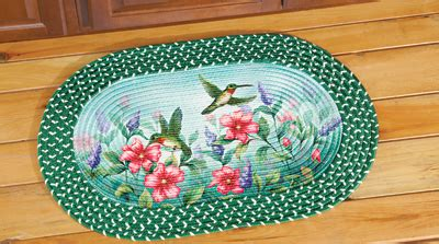 Hummingbird Rug by Hummingbird Floral Garden Braided Rug From Collections Etc