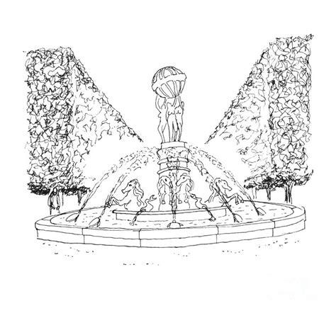 paris fountain drawing  steven tomadakis