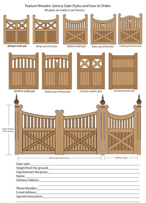 gate plans designs  woodworking