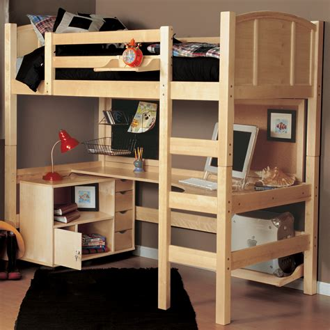 size bunk beds pict the advantages of loft bed with desk and storage